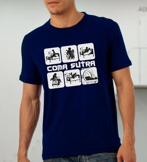 Куку тениска мъжка - Coma Sutra, тъмно синя