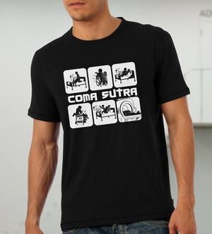 Куку тениска мъжка - Coma Sutra, черна