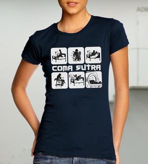 Куку тениска дамска - Coma Sutra, тъмно синя