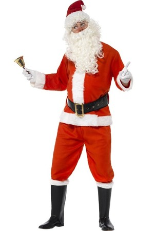 Костюм Дядо Коледа, лукс #SMF34585