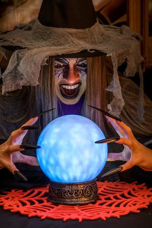 Кристална топка със светлини и звук #I09159