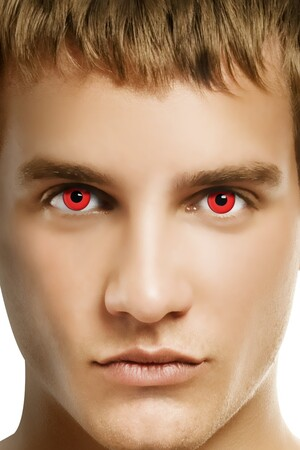 Лещи за очи - Дявол, червени #SMF23650