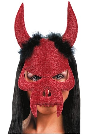 Домино Дявол с рога и зъби #I01112