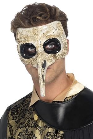 Маска-домино Доктор Чума с дълъг нос #SMF45224