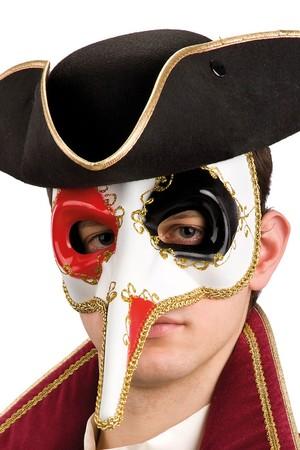 Маска-домино Венецианска с дълъг нос #I00695