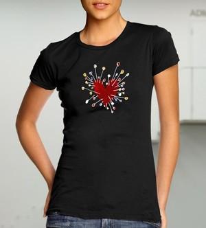 Сърце игленик (дамска тениска)