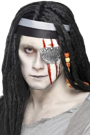 Пиратска превръзка за око и белези - латекс #SMF27800