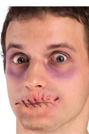 Релефна татуировка - зашита уста #I06507