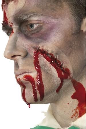 Релефна татуировка - зашита рана и кръв #SMF36814