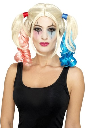 Перука с опашки Harley Quinn #SMF45055
